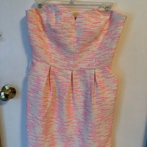 Anthropologie sweetheart neck twilled strapless